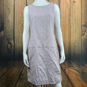 J Jill Purple Linen Tie Back Dress Size 8